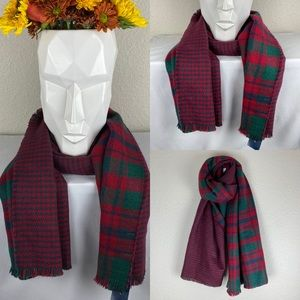 NEW Charter Club plaid/houndstooth red/green scarf